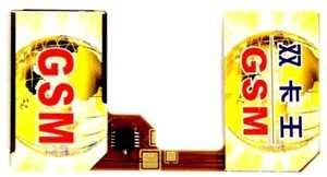 Адаптер на 2-сим карты (со шлейфом) без вырезания.