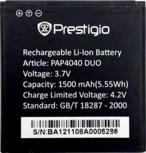 Prestigio 4040 (PAP4040DUO) 1500mAh Li-ion, оригинал