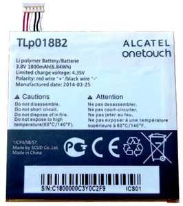 Alcatel OT 6030 (TLp018B2) 1800mAh Li-polymer, оригинал