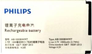 Philips Xenium E166 (AB1000BWMT) 1000mAh Li-ion, оригинал