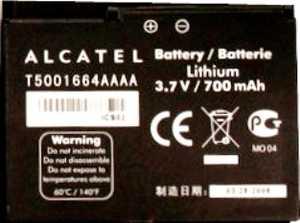 Alcatel OT V770 (T5001664AAAA) 700mAh Li-ion, оригинал