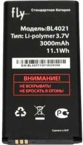 Fly DS124 (BL4021) 3000mAh Li-polymer, оригинал