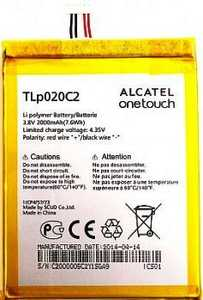 Alcatel OT 6040 (TLp020С2) 2000mAh Li-polymer, оригинал