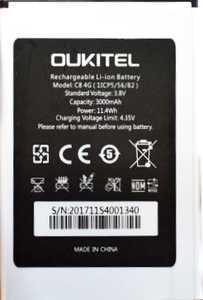 Oukitel (C8) 3000mAh Li-ion, оригинал