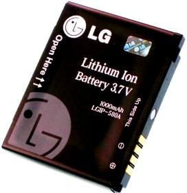 LG KU990 (LGIP-580A) 1000mAh Li-ion 3.7Wh, оригинал