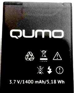 Qumo (452) 1400mAh Li-polymer, оригинал