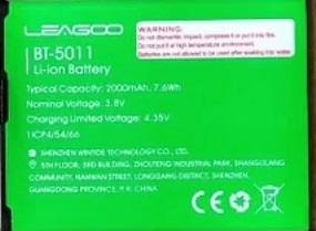 Leagoo Z13 (BT-5011) 2000mah Li-polymer, оригинал