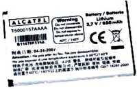 Alcatel OT C630 (T5000157AAAA) 650mAh Li-ion, оригинал