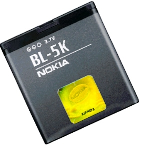 Nokia N86 (BL-5K) 1200mAh Li-ion 4.4Wh, оригинал