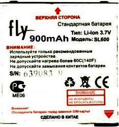 Fly E300 (BL07E) 900mAh Li-ion, усиленная