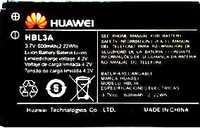 Huawei A618 (HBL3A) 600mAh Li-ion, оригинал