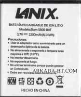 Lanix (S600-BAT) 2200mAh Li-ion, оригинал