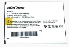 Ulefone (S8 Pro) 3000mAh Li-polymer, оригинал