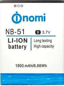 Nomi i500 (NB-51) 1800mAh Li-ion, оригинал