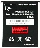 Fly IQ442Q (BL5203) 1500mAh Li-ion, оригинал