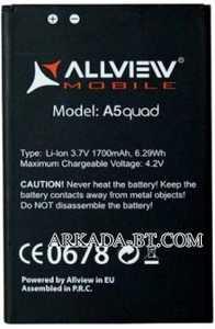 Allview (A5 Quad) 1700mAh Li-ion, оригинал