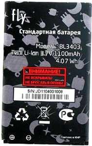 Fly IQ250 (BL3403) 1100mAh Li-ion, оригинал