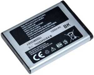 Samsung D880i Duos (AB553850DE) 1200mAh Li-ion 4.44Wh, оригинал