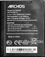 Archos 50D Neon (AC50DNE) 2000mAh Li-ion, оригинал