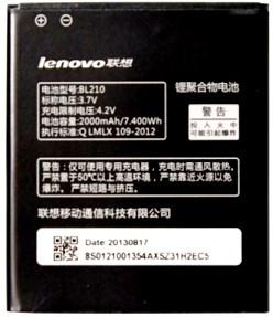 Lenovo S650 (BL210) 2000mAh Li-ion, оригинал