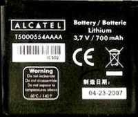 Alcatel OT C820 (T5000554AAAA) 700mAh Li-ion, оригинал