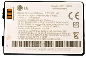 LG KE800 (LGLP-GBDM) 800mAh Li-polymer, оригинал