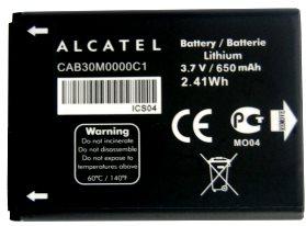 Alcatel OT 255 (CAB30M0000C1) 650mAh Li-ion 2.41Wh, оригинал