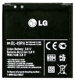 LG F120 (BL-49PH) 1700mAh Li-ion 6.5Wh, оригинал