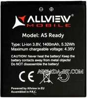 Allview (A5 Ready) 1400mAh Li-ion, оригинал