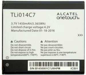 Alcatel 4024 (TLi014C7) 1400mAh li-ion, оригинал