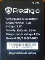 Prestigio 3531 (PSP3531) 2500mAh Li-ion, оригинал