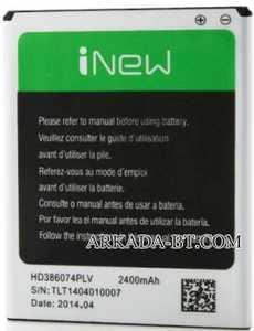 INew V8 (HD386074PLV) 2400mAh Li-ion, оригинал