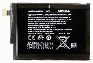 Nokia Lumia 1320 (BV-4BWA) 3500mAh Li-polymer 13.3Wh, оригинал