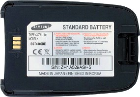 Samsung D600i (BST4389BE) 950mAh Li-ion, оригинал