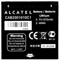 Alcatel OT S210 (CAB2001010C1) 670mAh Li-ion, оригинал