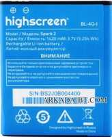 Highscreen (Spark 2) 1420mAh Li-ion, оригинал
