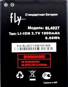 Fly IQ4410 (BL4027) 1800mAh Li-ion, оригинал