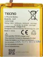 Tecno Camon CX Air (BL-32AT) 3250mAh Li-polymer, оригинал
