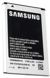 Samsung S5580 (EB404465VU) 1140mAh Li-ion 4.22Wh, оригинал