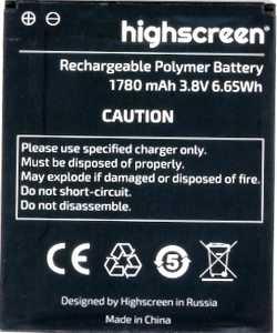 Highscreen (Omega Prime S) 1780mAh Li-polymer, оригинал