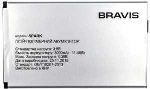 Bravis (Spark) 3000mAh Li-polymer, оригинал