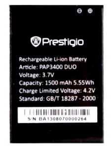 Prestigio 3400 (PAP3400DUO) 1500mAh Li-ion, оригинал