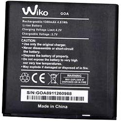 Wiko (GOA) 1300mAh Li-ion, оригинал