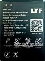 LYF Flame 1 (RLC01A) 2000mAh Li-ion, оригинал