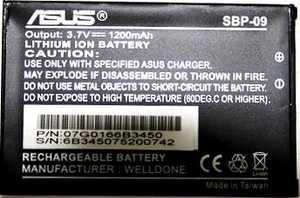 Asus A626 (SBP-09) 1200mAh li-ion, оригинал