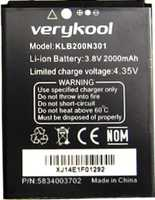 Verykool S505 (KLB200N301) 2000mAh Li-ion, оригинал