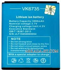 VKworld (VK6735) 3000mAh Li-ion, оригинал